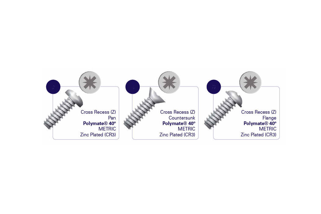 Polymate40 threadforming screw for plastic - vintove za plastmasa