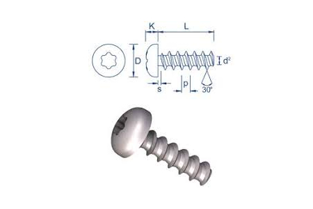 Plastech 30 screw for plastic - vint za plastmasa